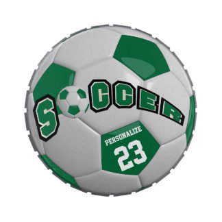 Dark Green Soccer Ball | Personalize
