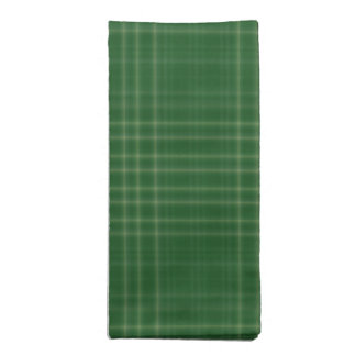 Dark Green Soft Plaid Cloth Napkins