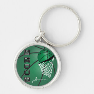 Dark Green Sport Basketball | DIY Text Keychain