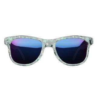 Dark green St Patrick lucky shamrock pattern Sunglasses
