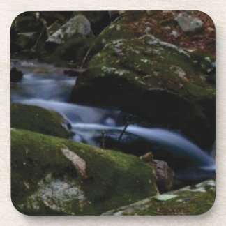 dark green stream coaster