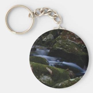 dark green stream keychain