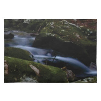 dark green stream placemat