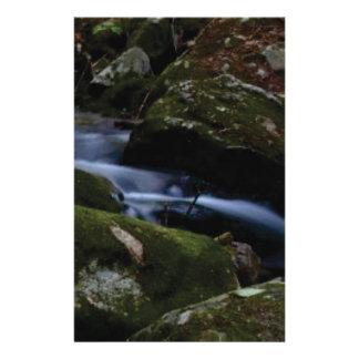 dark green stream stationery