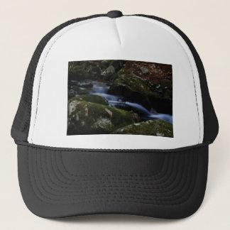 dark green stream trucker hat