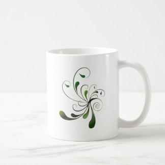 Dark Green Swirls Coffee Mug