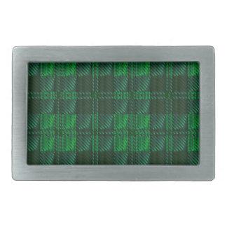 Dark Green Tartan Belt Buckle