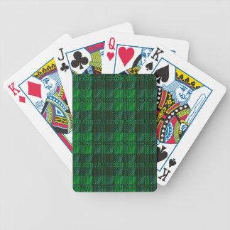 Dark Green Tartan Poker Deck