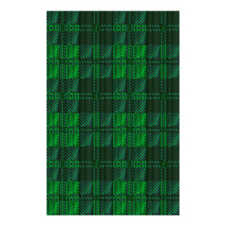 Dark Green Tartan Stationery Design