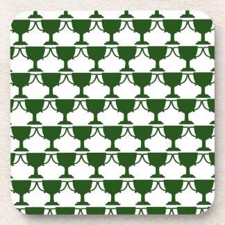 Dark Green Victorian Lace Coaster