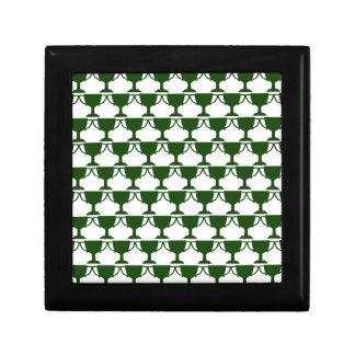 Dark Green Victorian Lace Gift Box