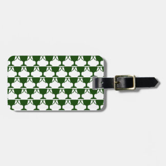 Dark Green Victorian Lace Luggage Tag