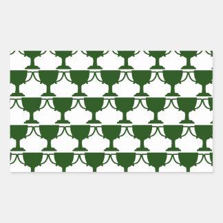 Dark Green Victorian Lace Sticker