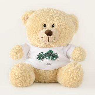 Dark Green, White and Black Cheerleader Teddy Bear