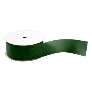 "Dark Green Woven Texture  1.5"" Grosgrain Ribbon"