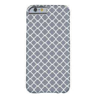 Dark Grey And White Quatrefoil. Moroccan Pattern Barely There iPhone 6 Case