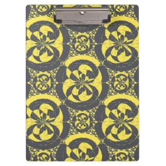 Dark grey and yellow clipboard