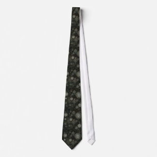 Dark grey black steampunk tie, time travel watches tie