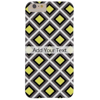 Dark Grey, Black, Yellow Ikat Diamonds by STaylor Barely There iPhone 6 Plus Case