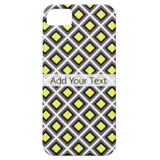 Dark Grey, Black, Yellow Ikat Diamonds by STaylor Case For The iPhone 5