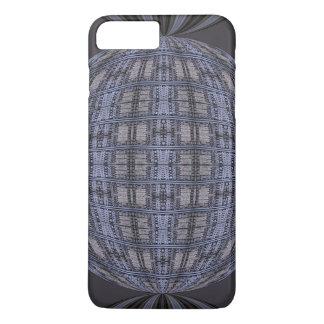 Dark Grey Blue Globe Abstract iPhone 7 Plus Case