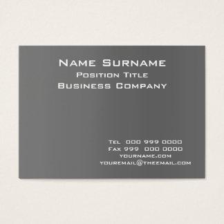 Dark Grey business card