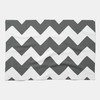 Dark Grey Chevron Kitchen Towel