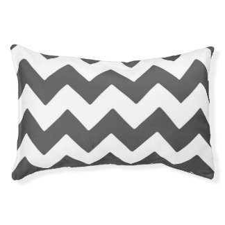Dark Grey Chevron Large Outdoor Dog Bed Small Dog Bed
