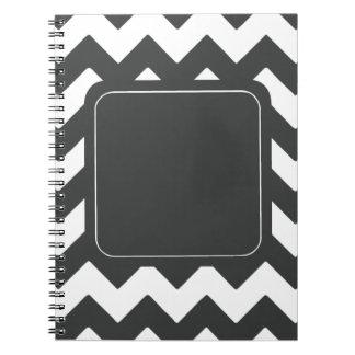 Dark Grey Chevron Notebook