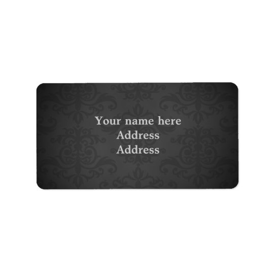 Dark grey damask to personalize label