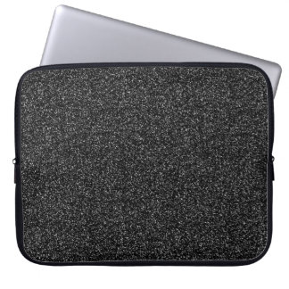 Dark grey faux glitter laptop sleeve