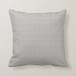 Dark Grey Fish Scale Pattern Pillow