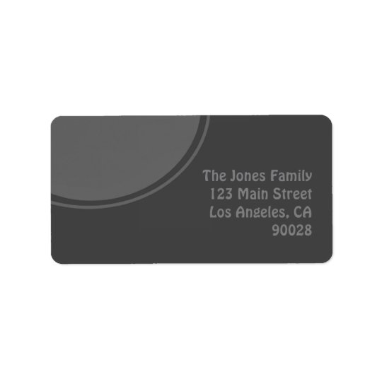Dark Grey Mod Circle Label