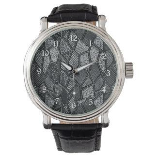 Dark Grey Mosaic Glass Wrist Watch