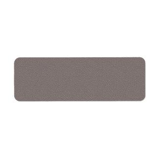 DARK GREY : Print in White Return Address Label