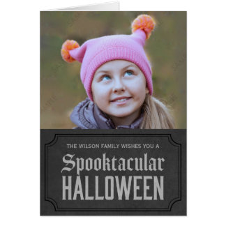 Dark Grey Spooktacular Halloween Photo Card