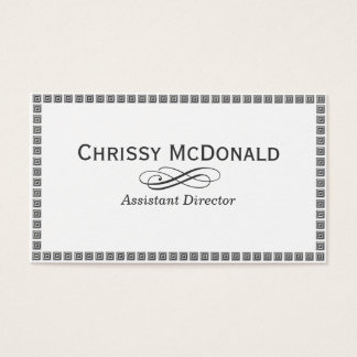 Dark Grey Stone Style Border Business Card