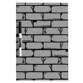 Dark Grey Wall Dry Erase Board