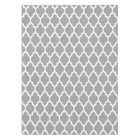 Dark Grey White Moroccan Quatrefoil Pattern #4 Tablecloth