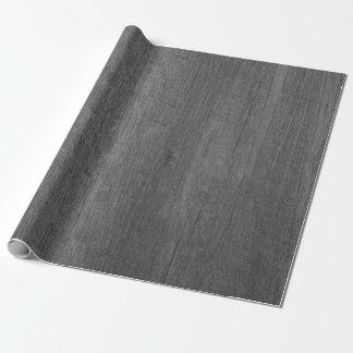 Dark Grey Wood Grain Wrapping Paper