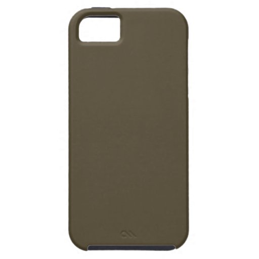 Dark Greyed Camo Army Green Khaki Color Only iPhone 5 Cover