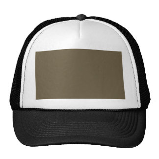 Dark Greyed Camo Army Green Khaki Color Only Trucker Hat