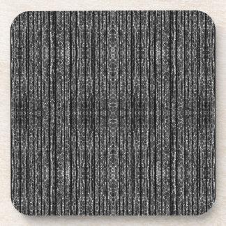 Dark Grunge Texture Drink Coaster