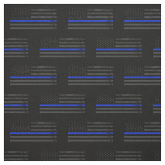 Dark Grungy Police Style American Flag Fabric