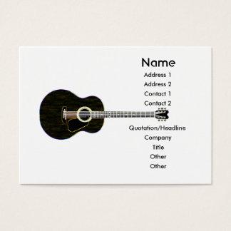Dark Guitar - Chubby Business Card