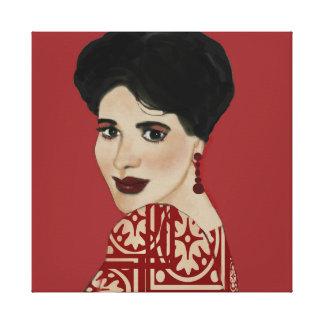Dark haired woman art print