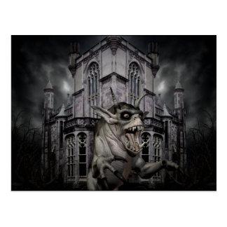 Dark Halloween demon Postcard