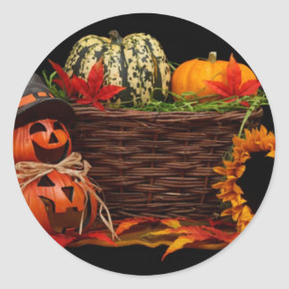 Dark Halloween Design Classic Round Sticker