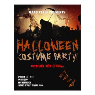 Dark Halloween Party Event Announcement Flyer