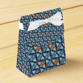 Dark hand-drawn abstract Owl pattern Favor Box